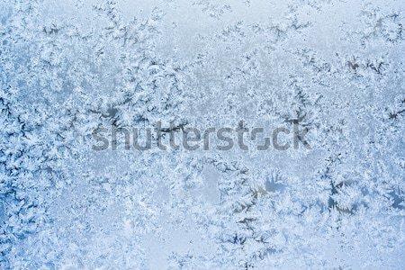 Fagy minta gyönyörű tél ablak fény Stock fotó © sailorr