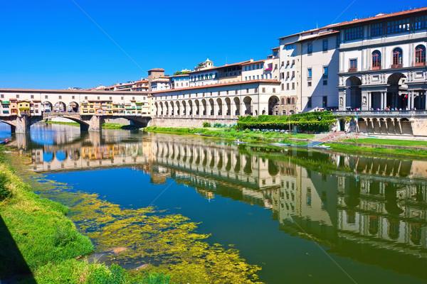 Сток-фото: старые · моста · Флоренция · Тоскана · Италия · воды