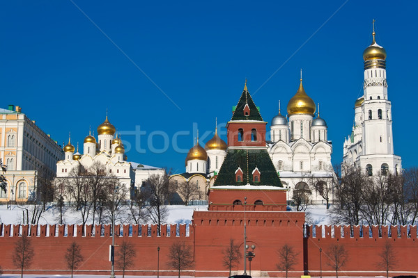Moskou Kremlin mooie muren Rusland Stockfoto © sailorr