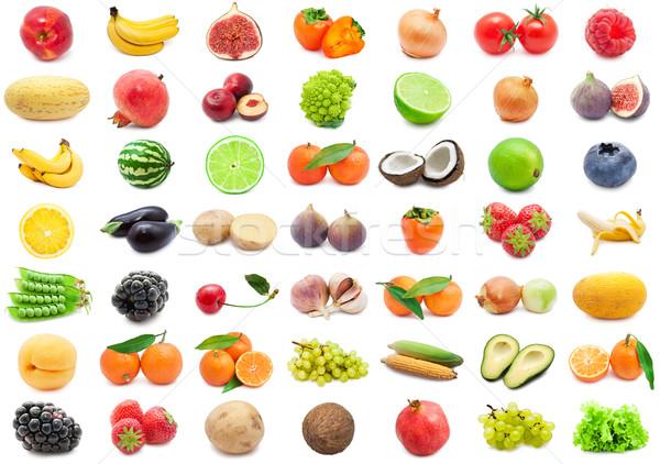 Frutas legumes coleção isolado branco Foto stock © sailorr