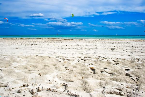 Italian beach Stock photo © sailorr