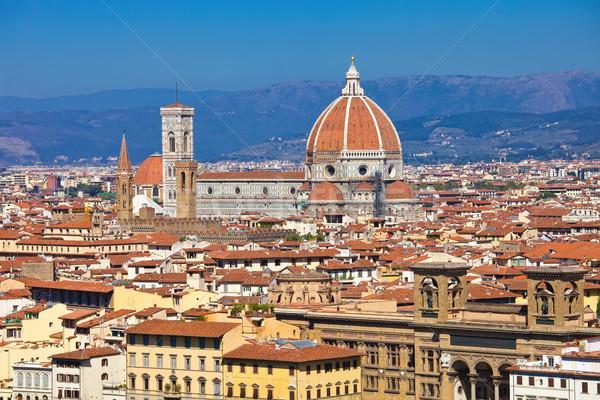 Флоренция Cityscape Церкви городского Skyline Сток-фото © sailorr