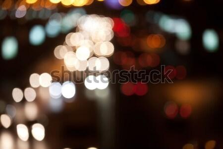 ночь дороги движения расплывчатый фары аннотация Сток-фото © sailorr
