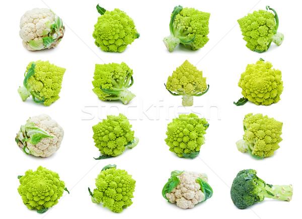 Karnabahar brokoli toplama yalıtılmış beyaz gıda Stok fotoğraf © sailorr