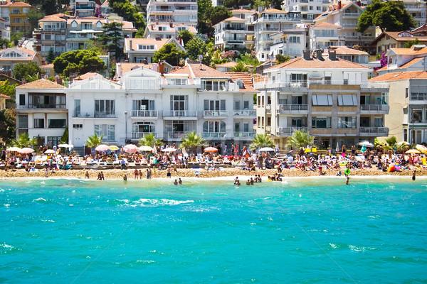 Ilha praia istambul Turquia água casa Foto stock © sailorr