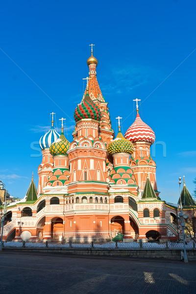 Saint basilic cathédrale Moscou Place Rouge Kremlin Photo stock © sailorr