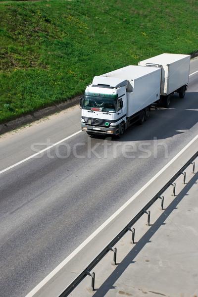Camion blanche autoroute vitesse transport livraison Photo stock © sailorr