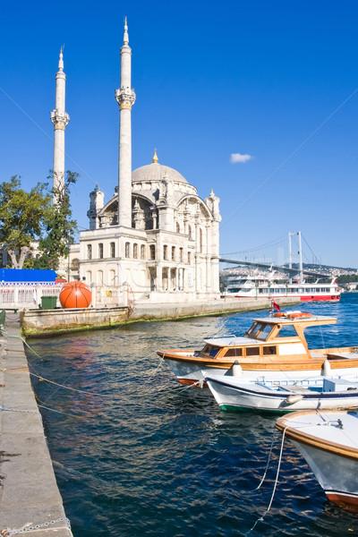 мечети банка Стамбуле Турция небе морем Сток-фото © sailorr