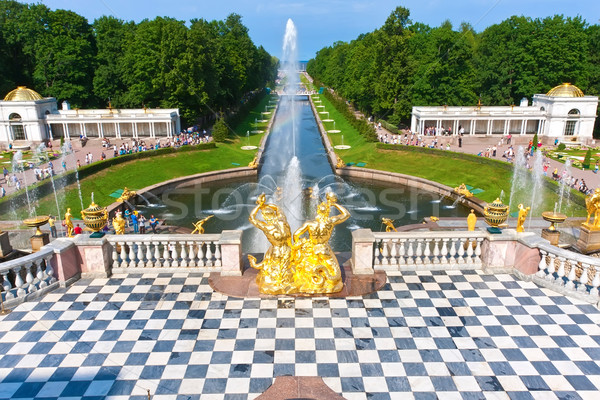 Peterhof Stock photo © sailorr