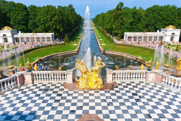 Szent víz épület művészet nyár arany Stock fotó © sailorr