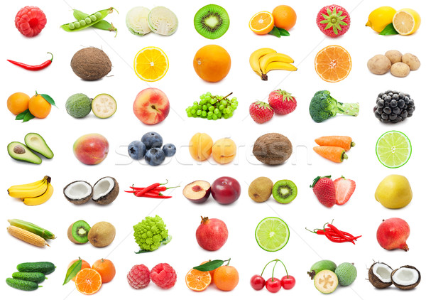Frutti verdura raccolta isolato bianco Foto d'archivio © sailorr