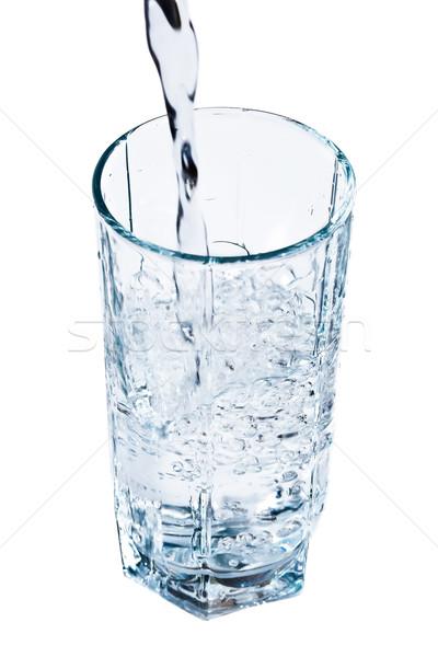 Vetro acqua fresche blu bere dieta Foto d'archivio © sailorr