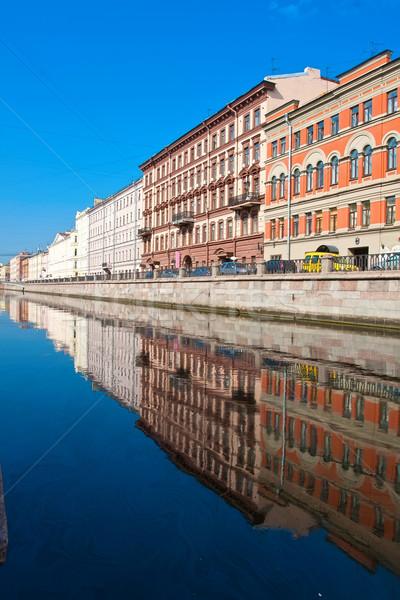 Hermosa vista canal agua ciudad Foto stock © sailorr
