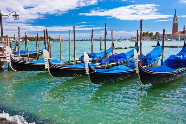 Venecia iglesia Italia agua casa sol Foto stock © sailorr