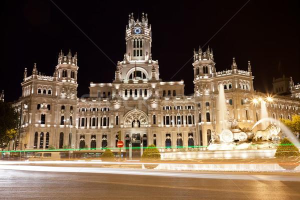 Palais Madrid central bureau de poste carré Espagne Photo stock © sailorr