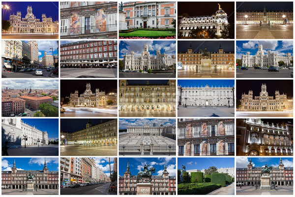 Madrid raccolta bella foto Spagna ufficio Foto d'archivio © sailorr
