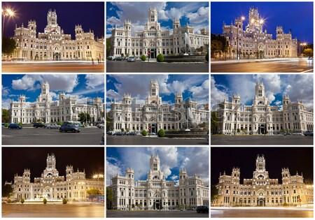 Madryt kolekcja piękna zdjęć Hiszpania biuro Zdjęcia stock © sailorr