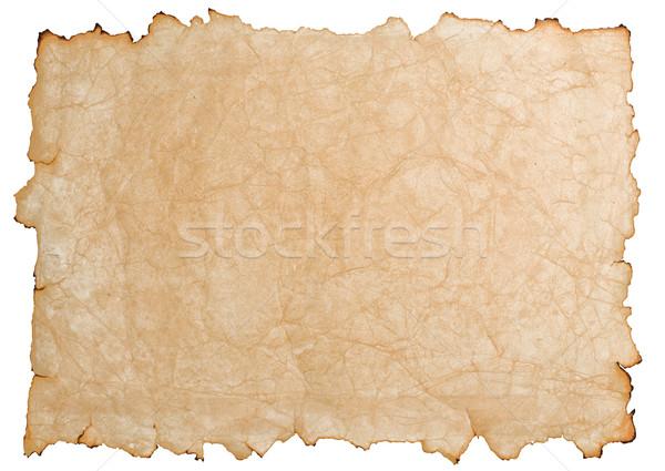Papel papel velho isolado branco textura Foto stock © sailorr