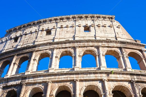 Coliseo Roma hermosa vista famoso antigua Foto stock © sailorr