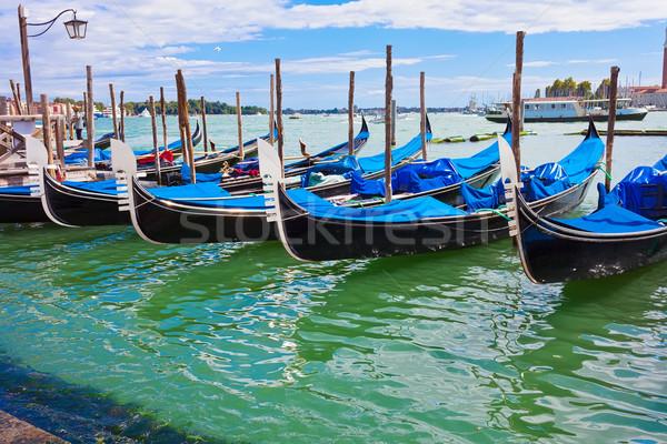 ストックフォト: ヴェネツィア · 教会 · イタリア · 水 · 家 · 太陽