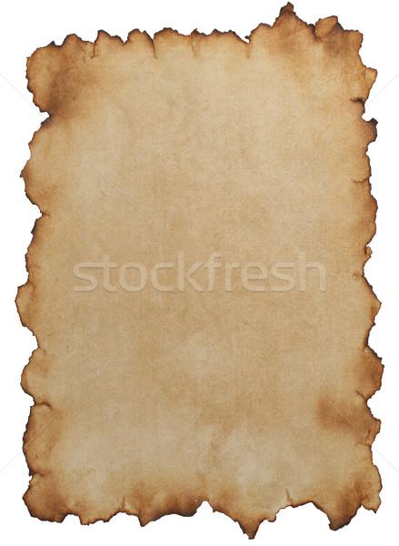 Oud papier geïsoleerd witte textuur kaart achtergrond Stockfoto © sailorr