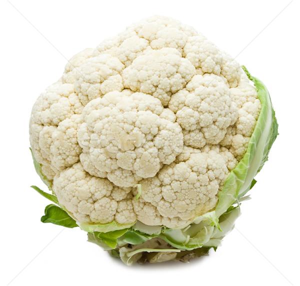 Cavolfiore isolato bianco foglia vegetali fresche Foto d'archivio © sailorr