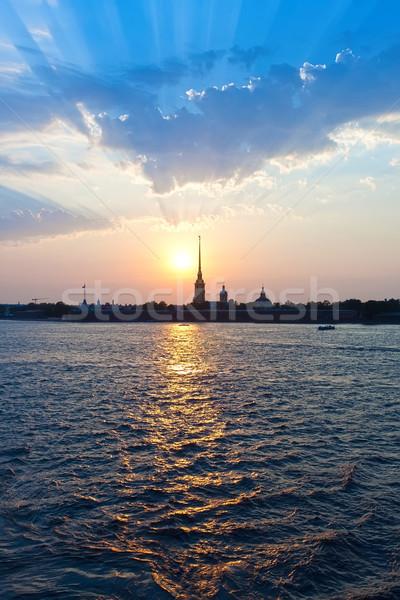 крепость святой здании стены закат путешествия Сток-фото © sailorr