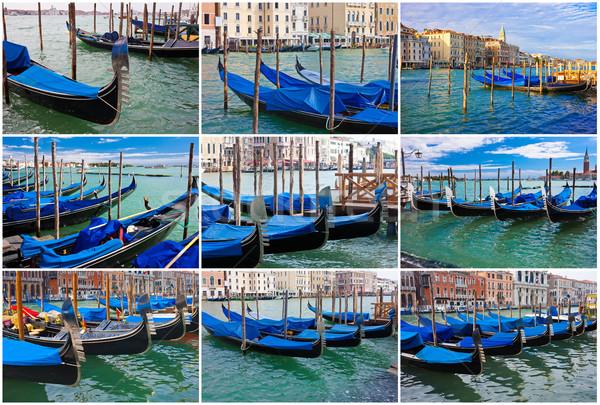Gondolas in Venice Stock photo © sailorr