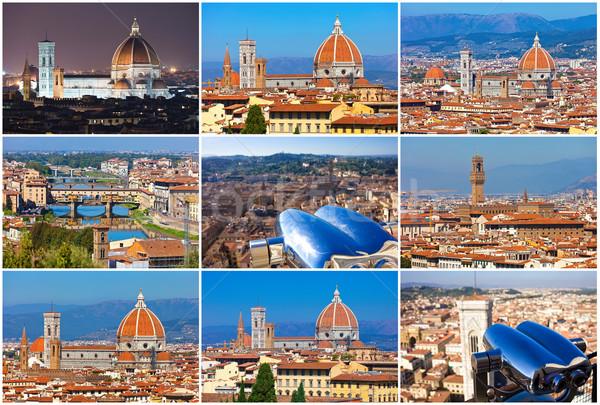 Florence collectie mooie foto's Italië hemel Stockfoto © sailorr