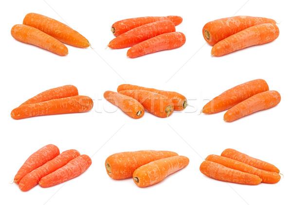 морковь коллекция свежие оранжевый морковь изолированный Сток-фото © sailorr