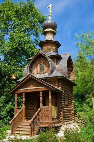 Ortodoxo capela primavera velho céu Foto stock © sailorr