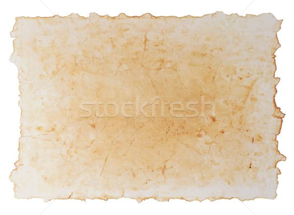 Papel papel viejo aislado blanco textura Foto stock © sailorr
