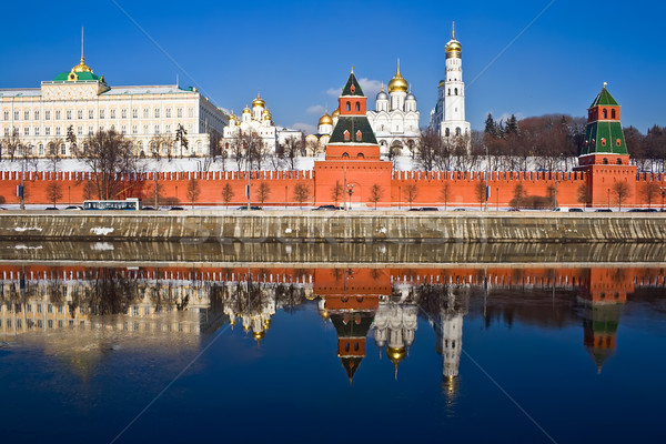 Moscow Kremlin and reflection Stock photo © sailorr