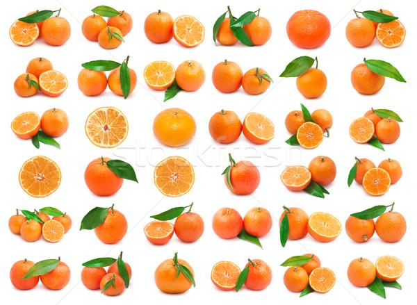 コレクション ジューシー 孤立した 白 オレンジ 緑 ストックフォト © sailorr