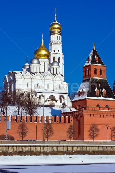 モスクワ クレムリン 塔 大聖堂 空 建物 ストックフォト © sailorr