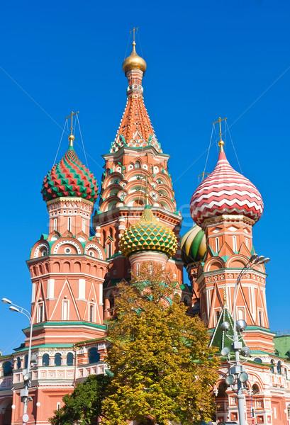 Aziz fesleğen katedral Moskova Kızıl Meydan Kremlin Stok fotoğraf © sailorr