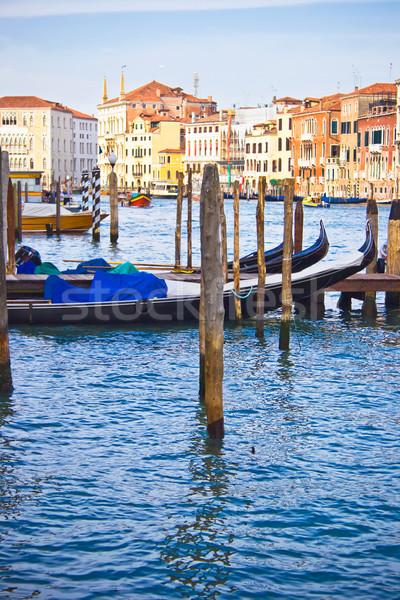 Kanal venedik Venedik gökyüzü ev şehir Stok fotoğraf © sailorr