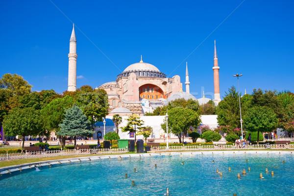 красивой мнение Стамбуле Турция Церкви синий Сток-фото © sailorr