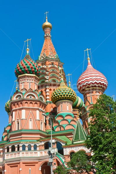 Basilicum kathedraal Moskou Red Square Kremlin Stockfoto © sailorr