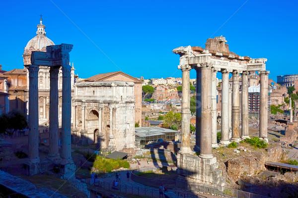 Romaine forum ruines célèbre anciens Rome Photo stock © sailorr