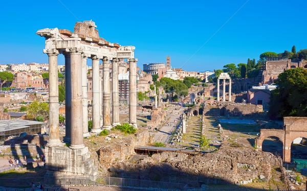 Romana forum rovine noto antica Roma Foto d'archivio © sailorr