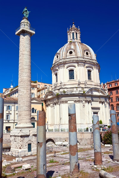 Római fórum romok híres ősi Róma Stock fotó © sailorr
