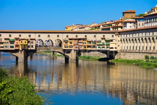 Сток-фото: старые · моста · Флоренция · Тоскана · Италия · небе