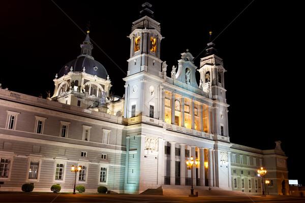 Сток-фото: собора · красивой · мнение · известный · Мадрид · Испания