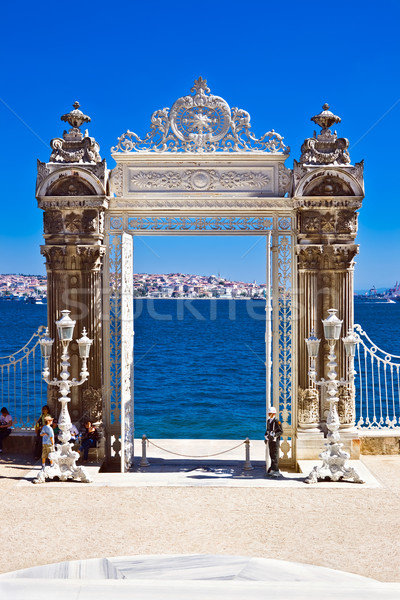 Dolmabahce gate Stock photo © sailorr
