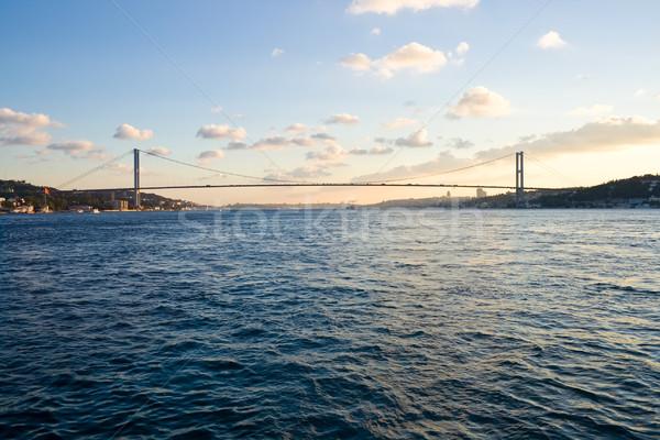 моста Европа Азии воды дома Сток-фото © sailorr
