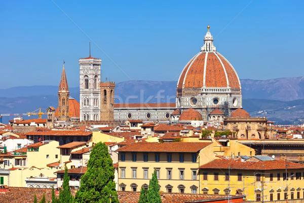 Флоренция собора известный базилика здании Сток-фото © sailorr
