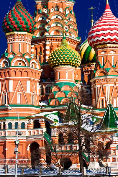 Szent bazsalikom katedrális Vörös tér Moszkva Oroszország Stock fotó © sailorr
