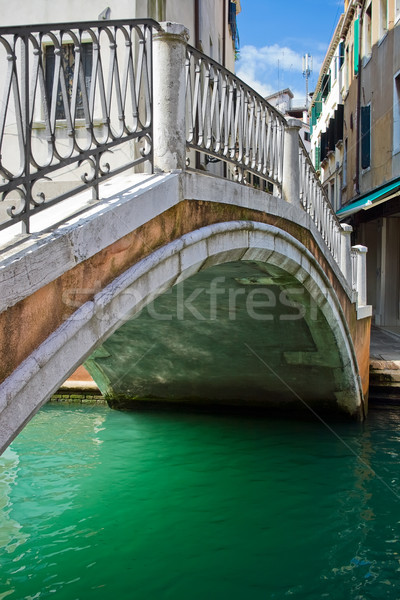 Bridge over a canal in Venice Stock photo © sailorr