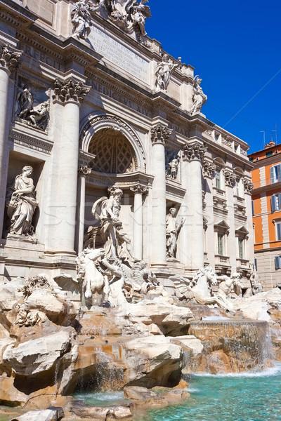 фонтан Фонтан Треви известный Рим Италия небе Сток-фото © sailorr